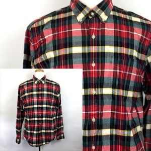 J Crew Oxford Long Sleeve Button Front Plaid Shirt
